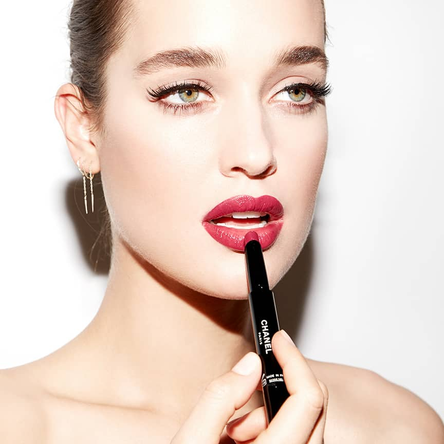 Kate Harrison for Beauty Is Boring by Robin Black featuring Chanel Rouge Stylo.